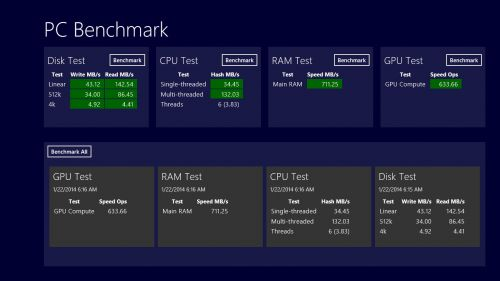 Benchmark-uri ASUS Transformer Book T100TA