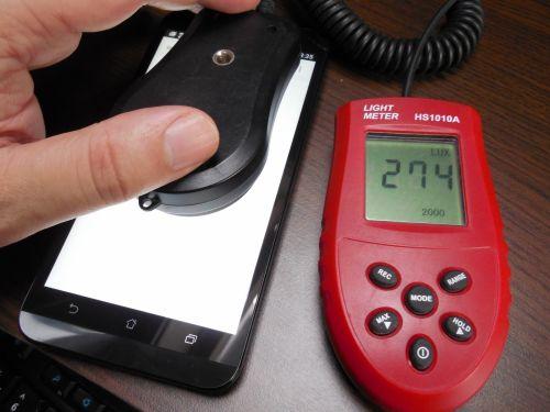 Luminozitatea maxima a ecranului telefomului ASUS ZenFone 2 Laser, este de 274 LUX