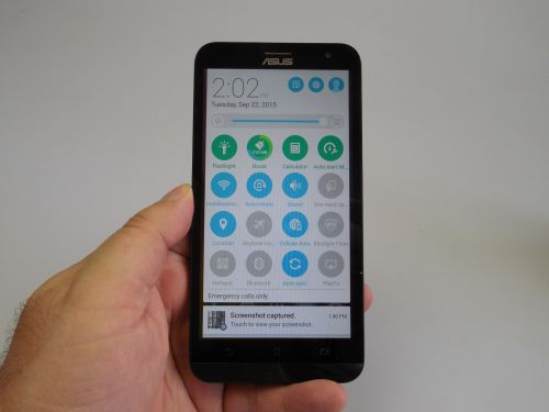 ASUS ZenFone 2 Laser Quick Settings