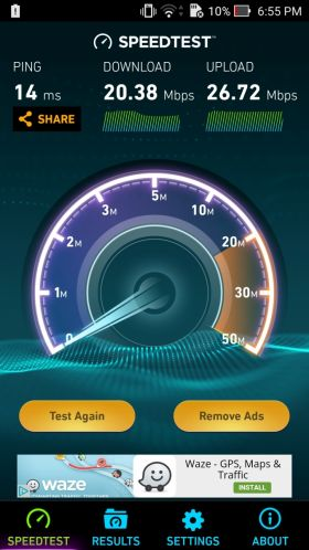 ASUS ZenFone Zoom speedtest
