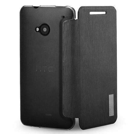 Husa HTC One - CUBZ Rock ultraslim Book Type neagra
