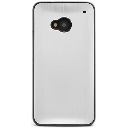 Husa HTC One - Brushed Aluminium Silver Metal de la CUBZ