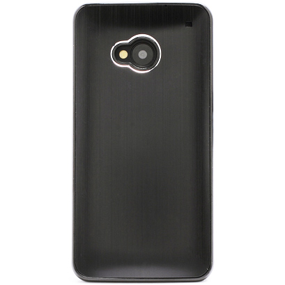 Husa HTC One - Brushed Aluminium Black Metal de la CUBZ