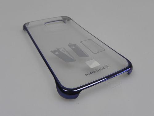Husă originală Samsung Galaxy S6 Clear Cover Neagră (2 bucăți)
