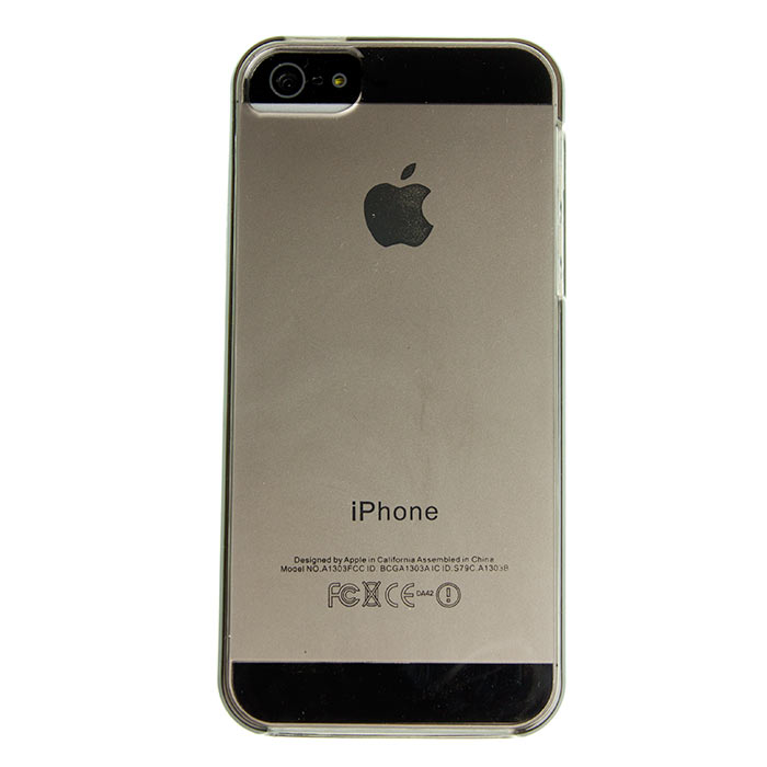 Husa iPhone 5 - Gel TPU neagra semitransparenta de la CUBZ
