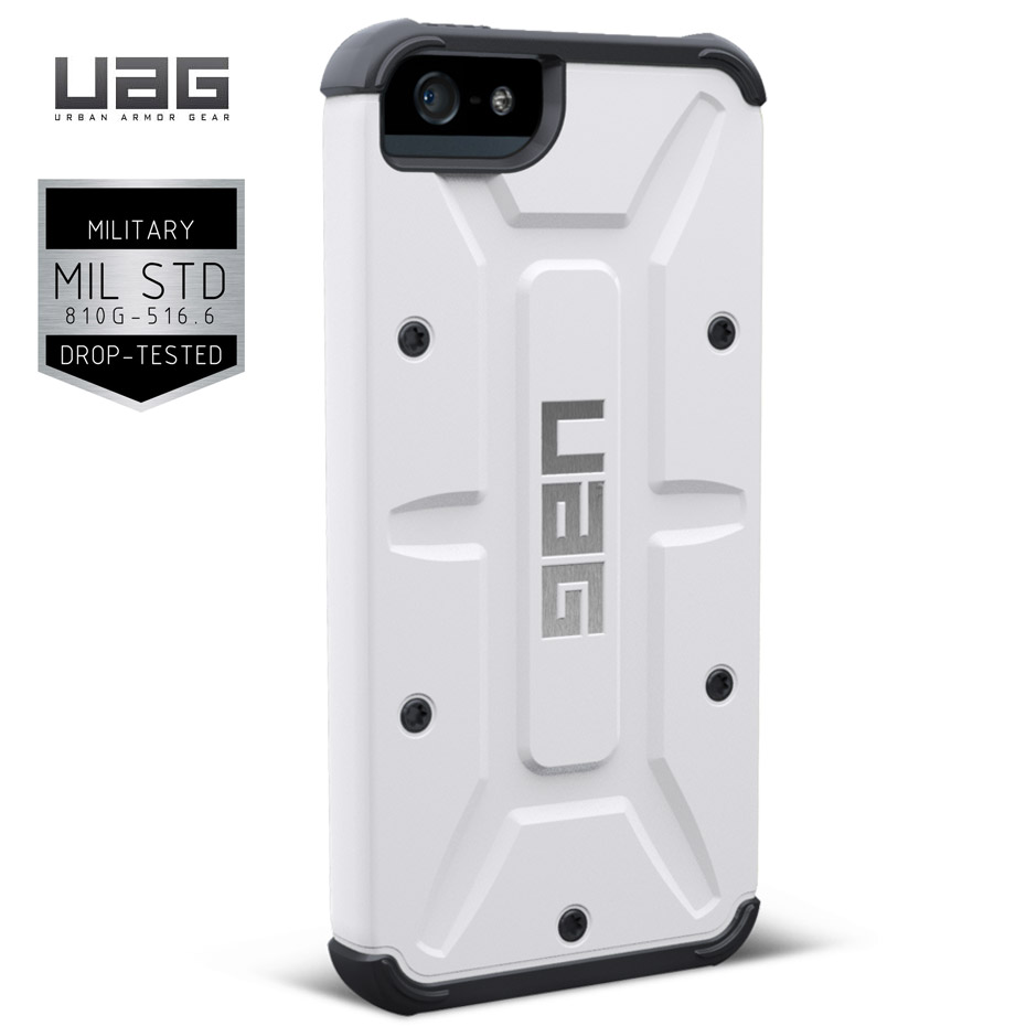 Husa iPhone 6 Plus 5.5 - UAG Navigator White cu folie protecție ecran