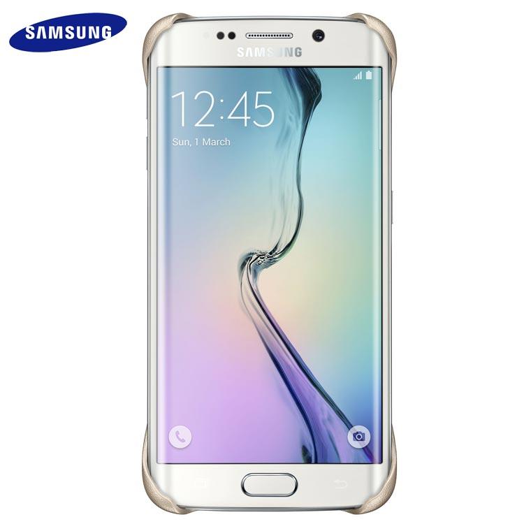 Husa originală Samsung Galaxy S6 Edge - Protective Cover Aurie