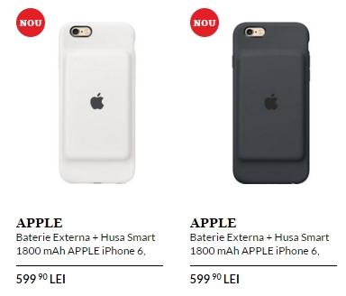 Husa smart Apple cu baterie de 1.800 mAh ajunge la QuickMobile; accesoriu compatibil cu iPhone 6 și iPhone 6s