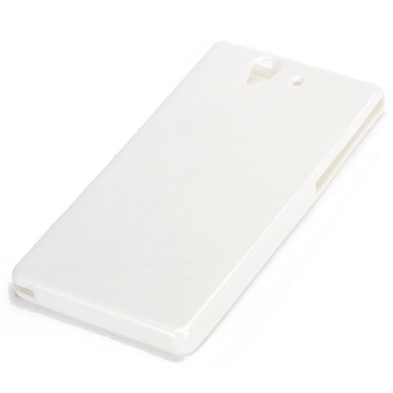 Husa Sony Xperia Z - Gel TPU alb lucios de la CUBZ