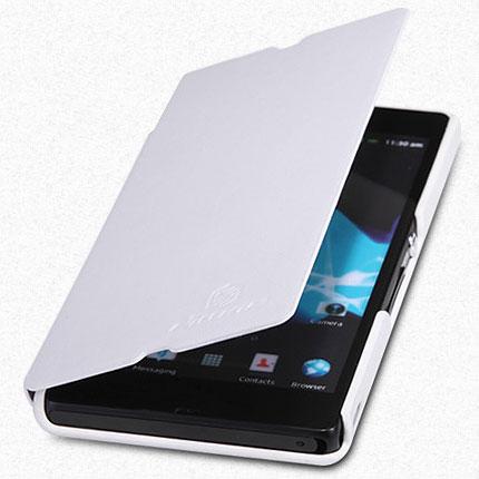 Husa Sony Xperia Z - Ultraslim alba cu folie de protectie inclusa