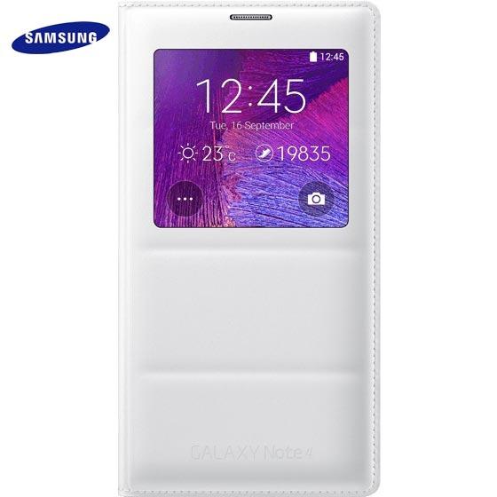 Husa originală Samsung Galaxy Note 4 - S View Cover Albă EF-CN910BWEGWW (CS N910F)