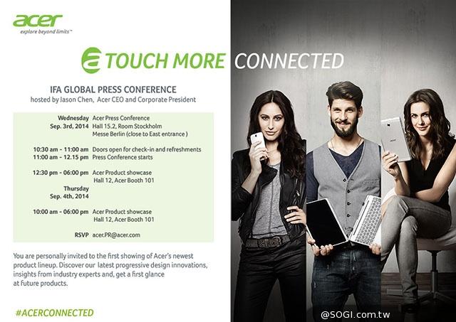 Acer trimite invitațiile pentru un eveniment ce va avea loc la IFA 2014; Liquid Jade Plus așteptat să debuteze oficial