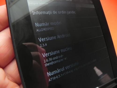 Versoine sistem de operare Allview AllDro Speed