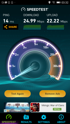 Allview P8 Energy Mini speedtest