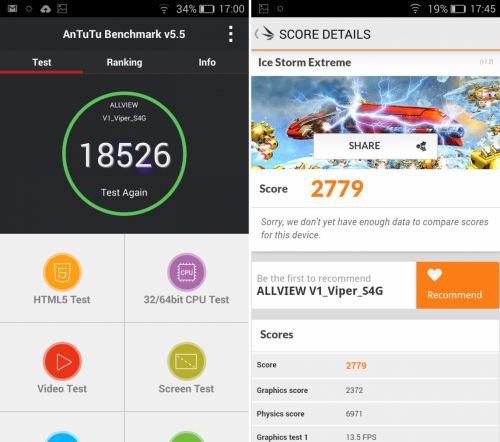 Benchmark-uri Allview V1 Viper S 4G