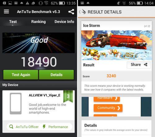Allview V1 Viper e benchmarks