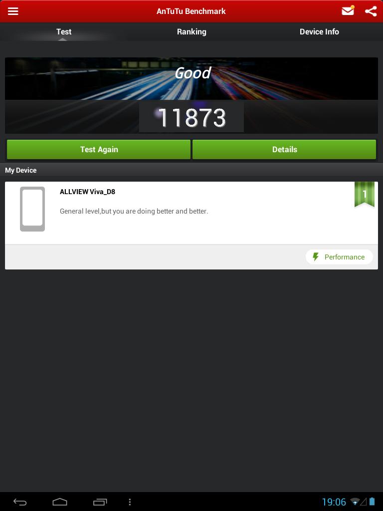 Allview Viva D8 - AnTuTu Benchmark