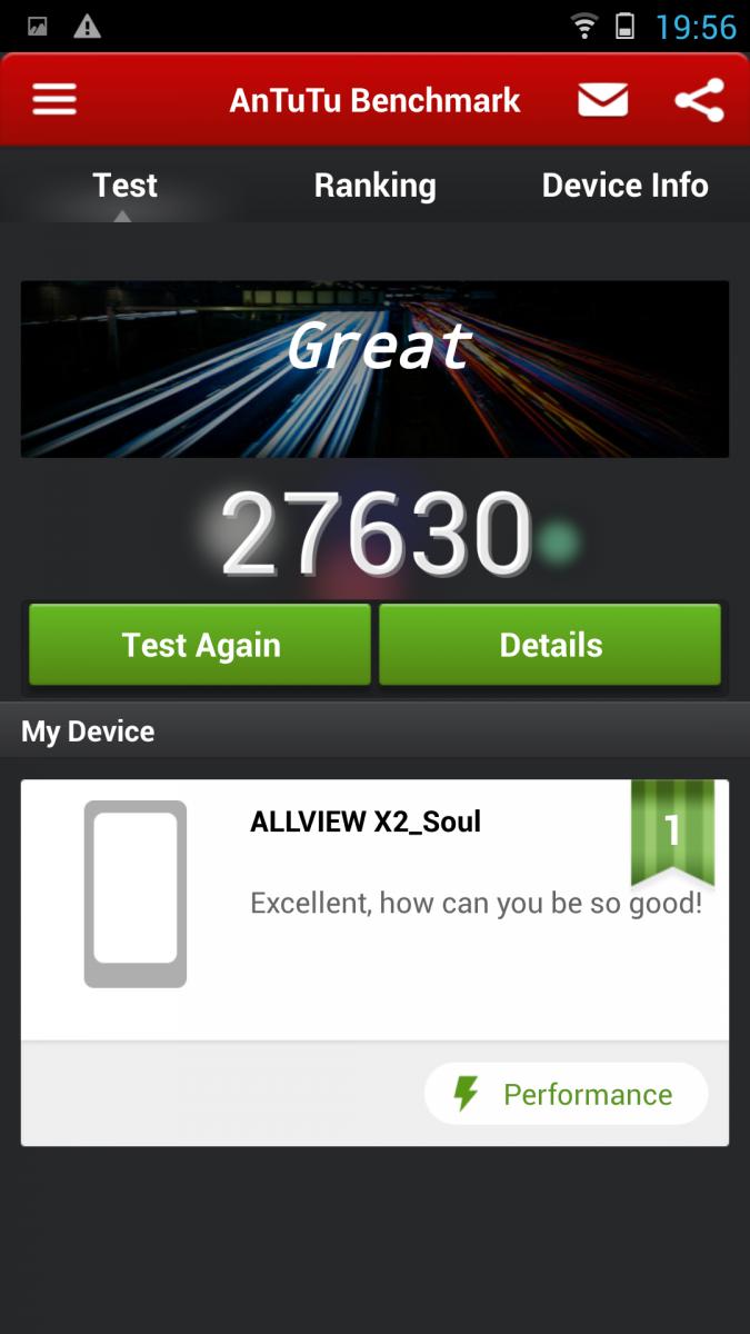 Allview X2 Soul - AnTuTu benchmark