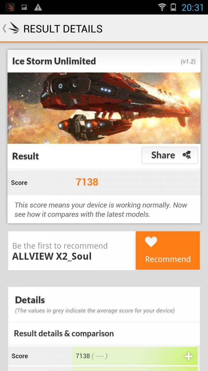 Allview X2 Soul - 3D Mark benchmark