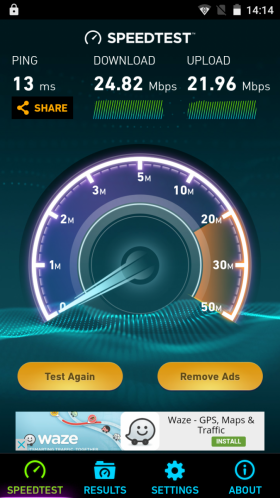 Allview X3 Soul Mini, speedtest