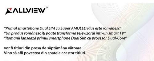 Allview ne pregătește o mare supriză: dual-sim, dual-core și Super AMOLED Plus