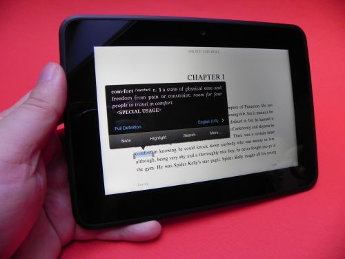 Amazon Kindle Fire HD e-reading