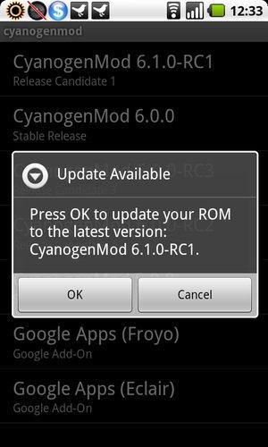 CyanogenMod 6.1.0-RC1