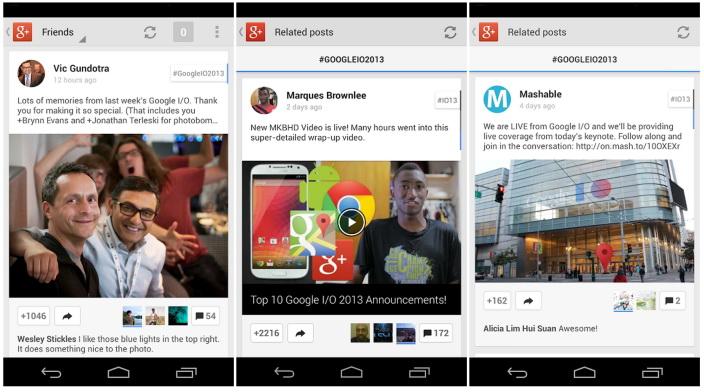Aplicația Google+ pentru Android actualizată, primește funcții de editare foto și hashtaguri