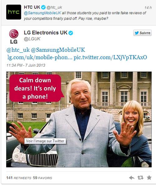 Samsung și HTC se atacă pe Twitter pe tema review-urilor negative; Intervine și LG!