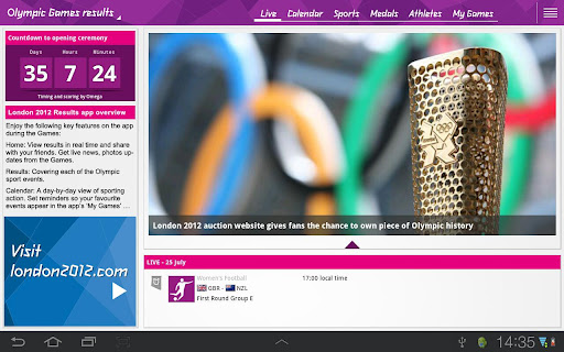 Aplicația oficială pentru Jocurile Olimpice de la Londra acum În Google Play Store (Rezultate)