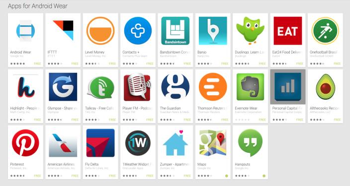 Google lansează oficial o aplicație companion pentru Android Wear și secțiuni speciale pentru Wear in Play Store