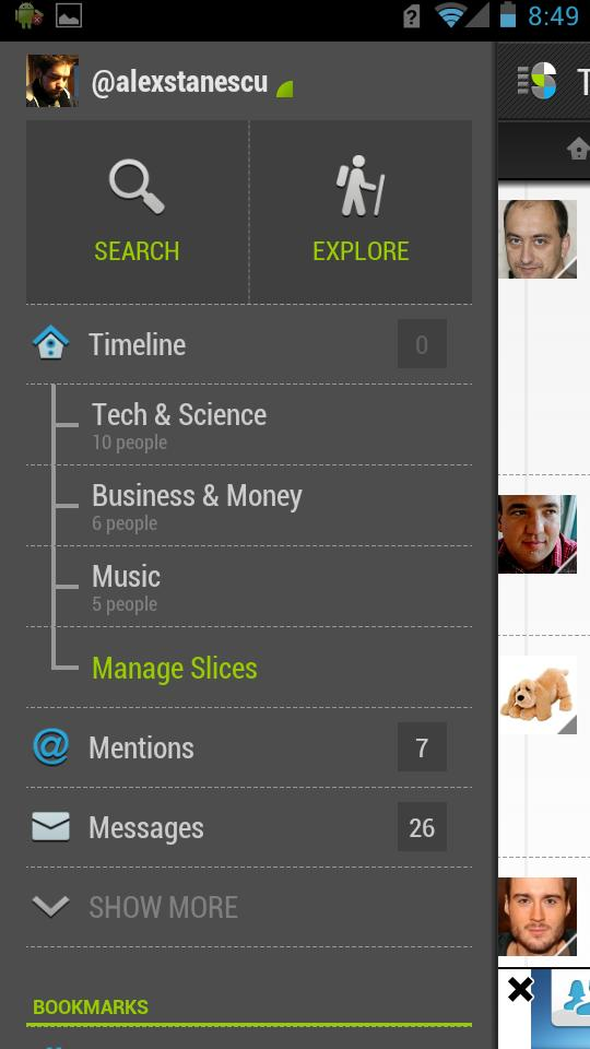 Slices - Client Twitter Android