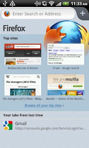 Firefox Beta pentru Android