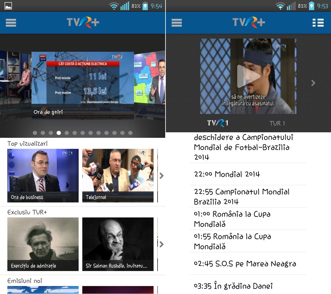 6. TVR+ Smartphone/Tabletă - iOS / Android