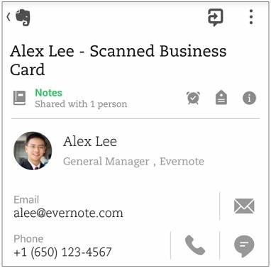 Aplicația Evernote pentru Android primește o actualizare, suportă acum scanarea cărților de vizită