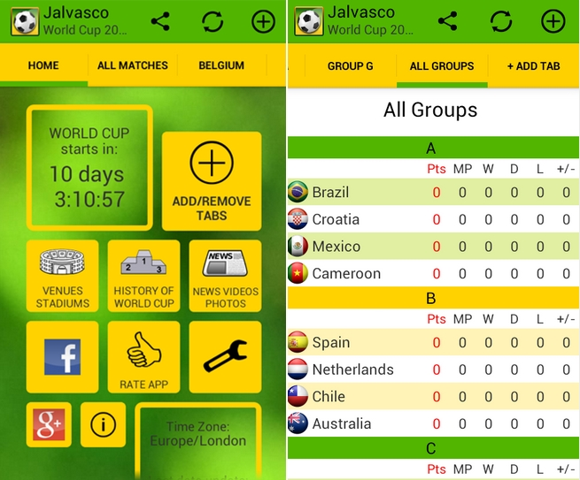 4. Jalvasco World Cup 2014 - Android