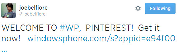 WELCOME TO #WP, PINTEREST! Get it now!