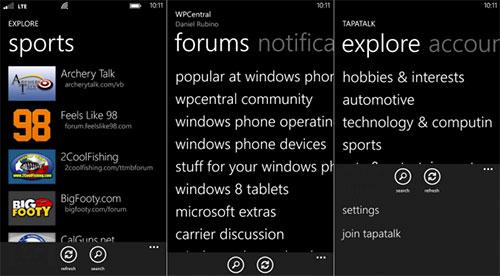 Windows Phone primește o aplicație oficială Tapatalk, fanii forumurilor exulta!