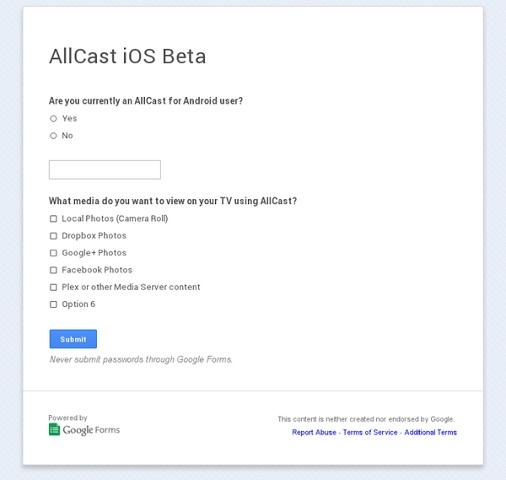 Aplicația de media-streaming AllCast disponibilă În versiunea beta pentru iOS