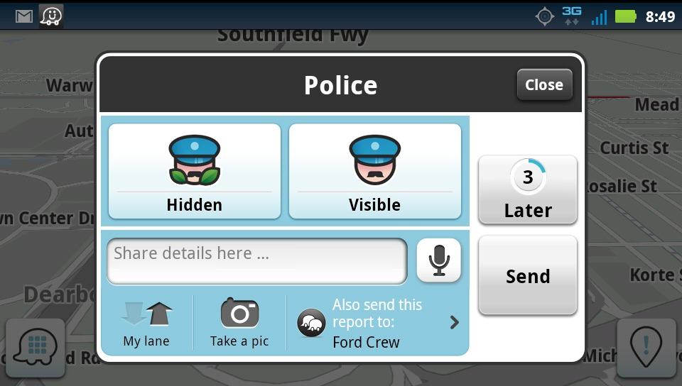 Cu poliţie sau fără? Poliţia din SUA face presiuni asupra Google pentru a bloca funcţia de avertizare Waze Traffic, care le indica poziţia
