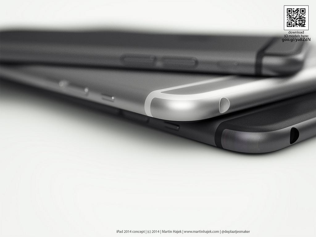 iPad Mini 3 și iPad Air 2 ar putea arăta astfel... dacă ar fi inspirate de iPhone 6