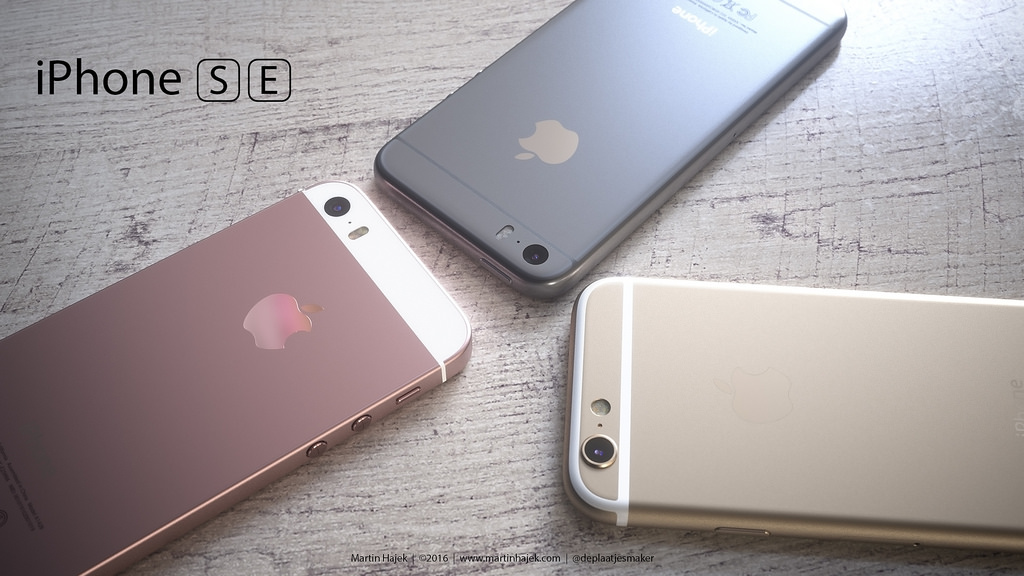 iPhone SE primeşte un concept de la respectatul designer Martin Hajek : 3 variante ale terminalului sunt randate
