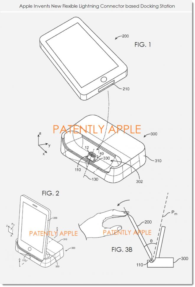 Un nou brevet al celor de la Apple scoate la iveală un dock de Încărcare ce dispune de un conector Lightning flexibil