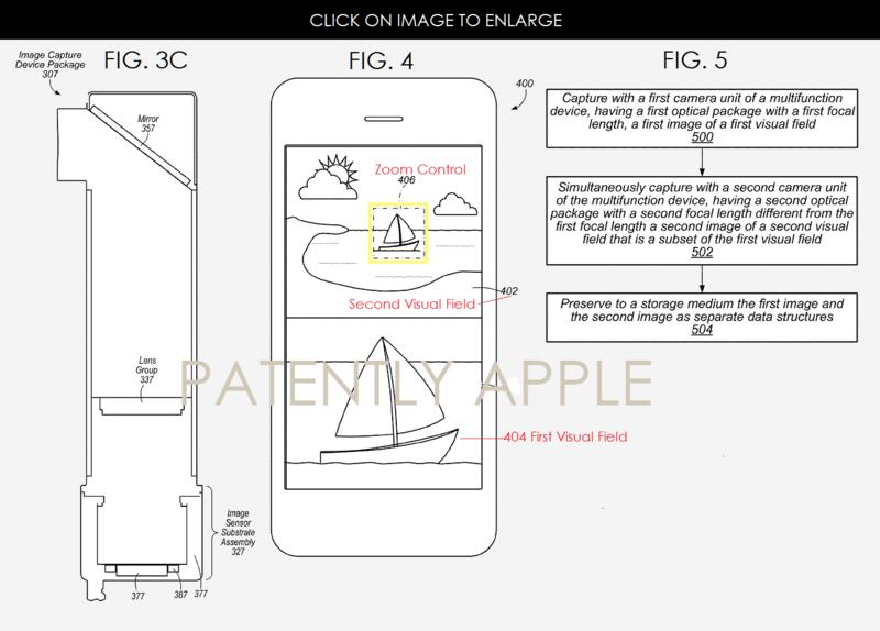 Apple brevetează un sistem cu camera duală şi zoom optic pentru viitoare modele iPhone şi alte terminale