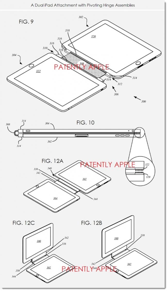Apple primeşte brevete pentru un sistem magnetic de ataşament care uneşte două iPad-uri şi un nou Smart Cover cu trackpad