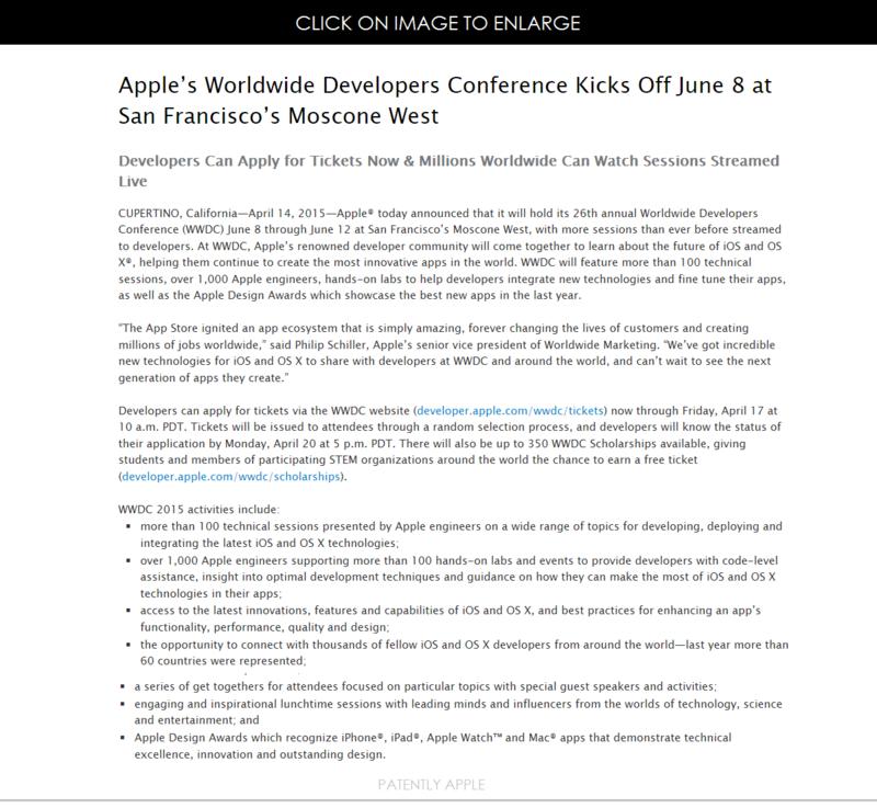 """Apple anunţă organizarea WWDC 2015 între 8 şi 12 iunie, lansări """"incredibile"""" asociate lui iOS şi OS X"""