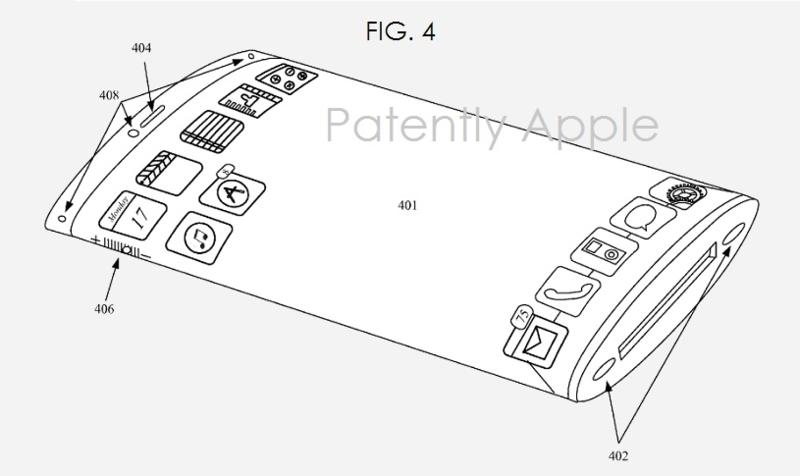 Apple primeşte un brevet pentru un smartphone cu display convex, potențial flexibil