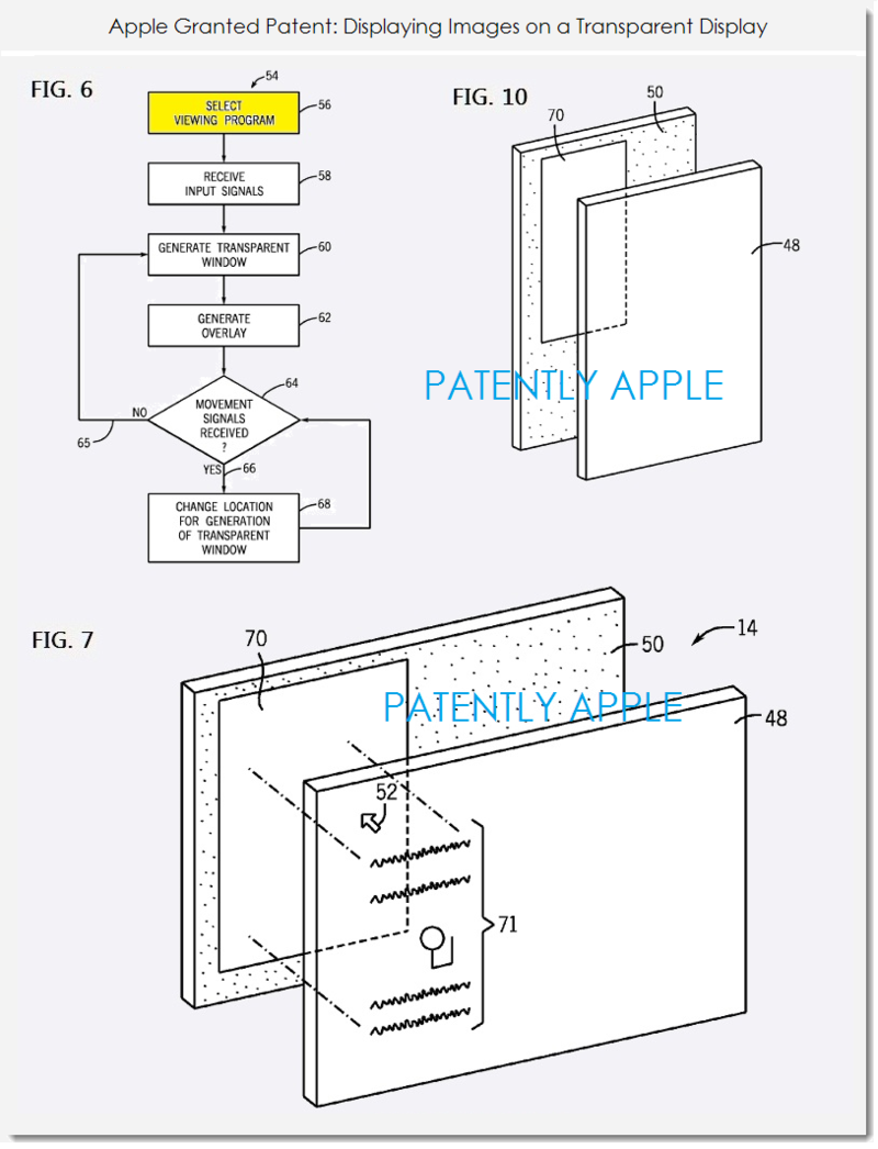 Apple primește un nou brevet ce face referire la un device cu display transparent