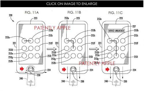 """Apple brevetează o nouă modalitate de deblocare a telefonului via Touch ID, printr-un soi de """"cifru"""" digital"""