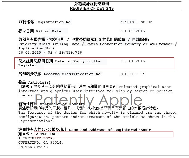 Apple primeşte 3 noi brevete pentru meniul Friends de pe Apple Watch în China